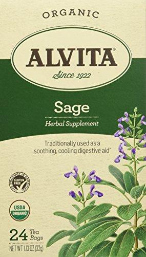 Alvita Teas Sage Tea Bags, 24 Count