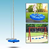 Benlet Disk Swing Seat Monkey Rope Tree Swing for Kids Adults Outdoor Fun