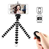 Phone Tripod, WAAO Octopus Style Portable and Adjustable Mini Webcam Tripod Stand Holder Compatible with iPhone & Android Phone Camera Sports Camera Gopro Logitech Webcam C920 C922 and More