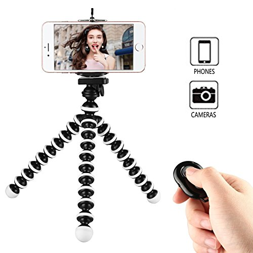 Phone Tripod, WAAO Octopus Style Portable and Adjustable Mini Webcam Tripod Stand Holder Compatible with iPhone & Android Phone Camera Sports Camera Gopro Logitech Webcam C920 C922 and More by WAAO