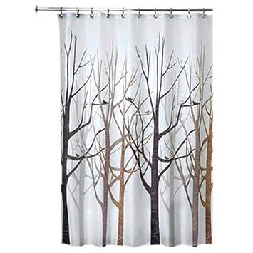 Amazon InterDesign Forest Fabric Shower Curtain 72 X Black Gray Home Kitchen