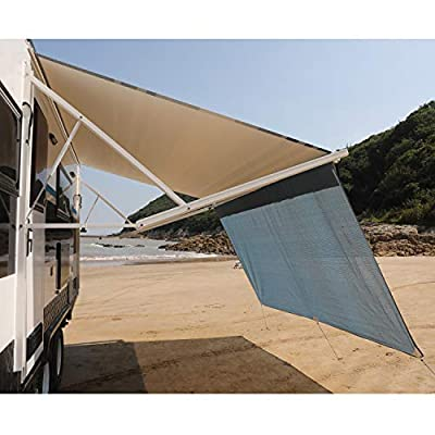 RV Awning Privacy Sun Shade Screen Complete Kits with UV Block (Blue, 10): Automotive