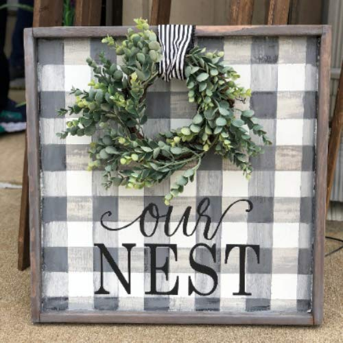 Amazon Com Rustic Our Nest Sign Buffalo Check Sign Sign