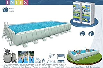 ULTRA FRAME SWIMMING POOL 732x366x132 SCHWIMMBAD KOMPLETT 54478 INTEX