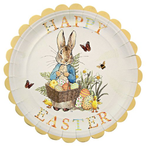 Peter Rabbit Easter Party Plates - Easter Plate