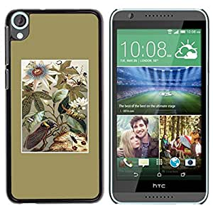 Be Good Phone Accessory // Dura Cáscara cubierta Protectora Caso Carcasa Funda de Protección para HTC Desire 820 // Golden Floral Field Flowers Summer