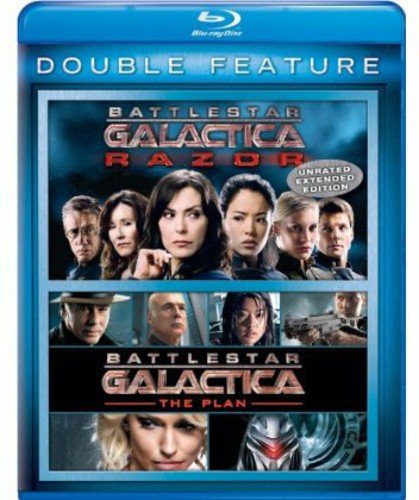 Blu-ray : Battlestar Galactica: Razor / Battlestar Galactica: The Plan (2 Pack, Snap Case, 2 Disc)