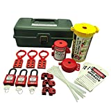 ZING 7129 RecycLockout Lockout Tagout Kit, 32 Component, Deluxe Tool Box