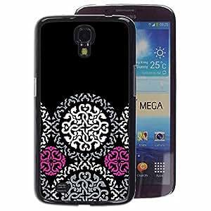 A-type Arte & diseño plástico duro Fundas Cover Cubre Hard Case Cover para Samsung Galaxy Mega 6.3 (Celtic Pattern Dark Goth)