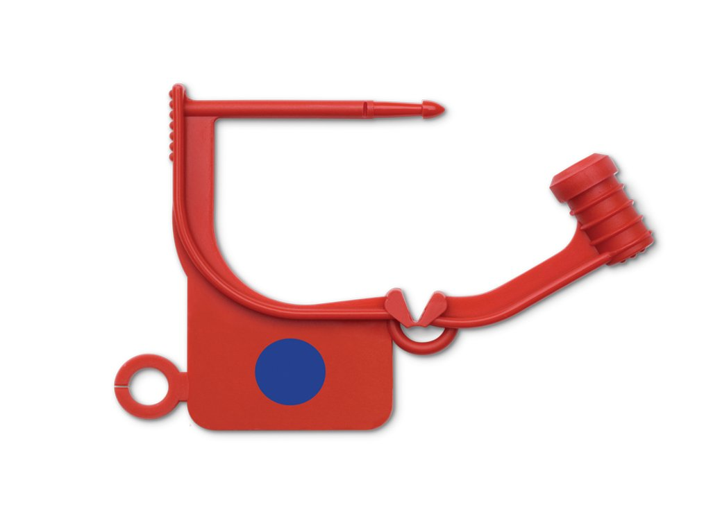Key Surgical LS-400-1000 Indicator Dot Locking Tag (Steam), Red (Pack of 1000)