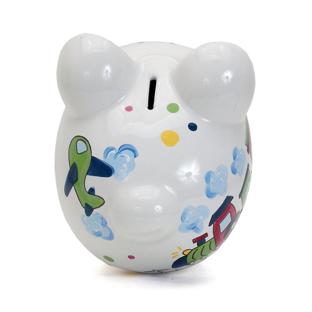 Child to Cherish Ceramic Piggy Bank for Boys Baseball