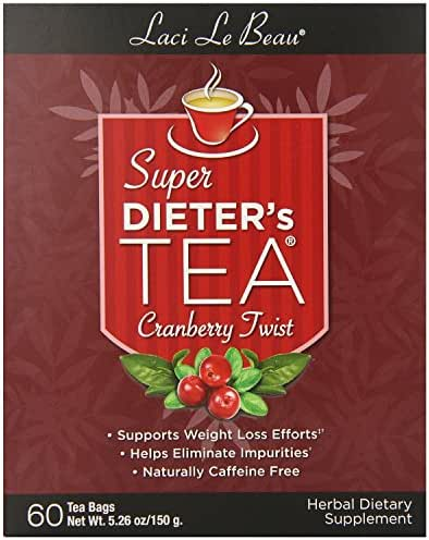 Super Dieter's Tea-Cranberry Twist 60ct Super Dieter's Tea-Cranberry Twist 60ct box Natrol