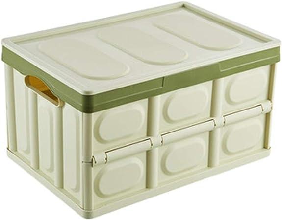 Gjrff Caja De Almacenamiento De Plástico Plegable De Almacenamiento De Coches Caja Armario Estantería (Color : Green): Amazon.es: Hogar