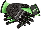 Hands-on Bathing/Grooming/Shedding Gloves Hands-on Green XL Gloves for Dogs, Cats, Horses, Livestock, Small Pet