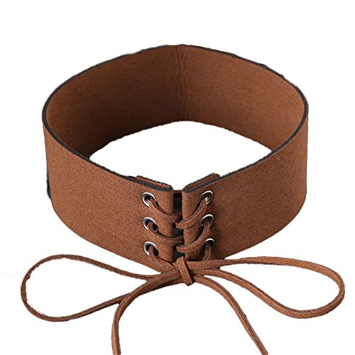 IDB Faux Suede/Leather Tie Up Wide (1.6
