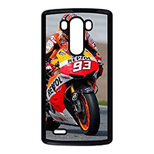 Personalized Durable Cases Lfohj LG G3 Black Phone Case Marc Marquez Protection Cover