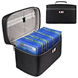 BUBM Portable PS4/PS4 PRO/Xbox One Game Disc Carrying Case Storage Bag Travel Case(Hold 20 Discs)-Black