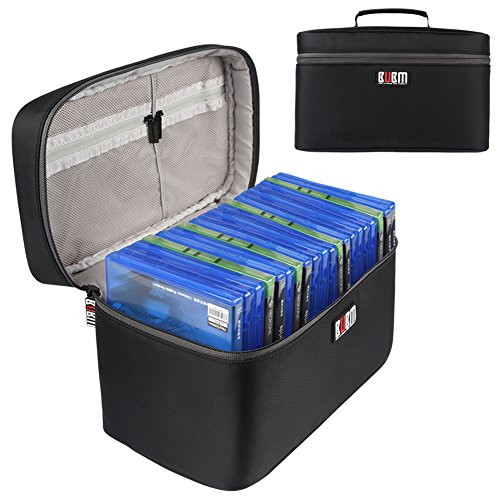 - BUBM Portable PS4/ PS4 PRO/Xbox One Game Disc Carrying Case Storage Bag Travel Case(Hold Up to 20 Discs)-Black