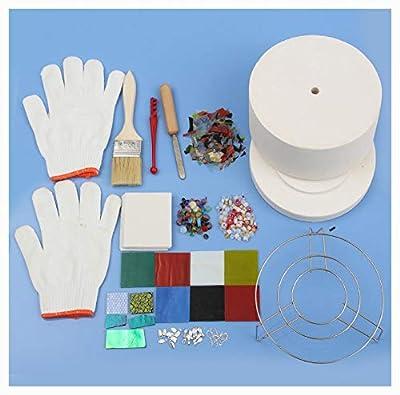 PROGLEAM Science Education, 15Pcs Large Microwave Kiln Kit Glass Fusing Kit DIY Jewelry Art