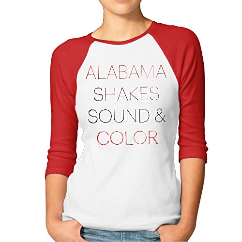 UANLA Alabame Shakes 3/4 Sleeve Baseball T Shirt For Womens Red