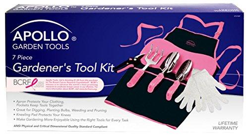Apollo tools dt3790p 7 piece pink garden kit your pretty for Pretty garden tools set