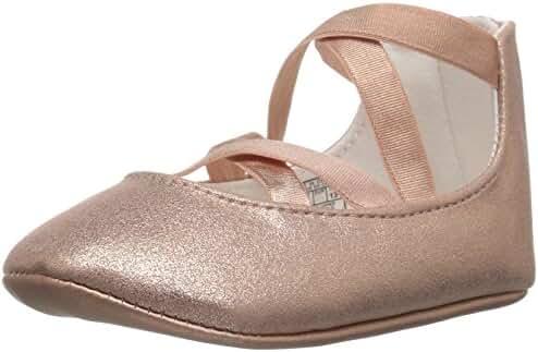 Ralph Lauren Layette Kids' Priscilla Pink Metallic Ballet Flat
