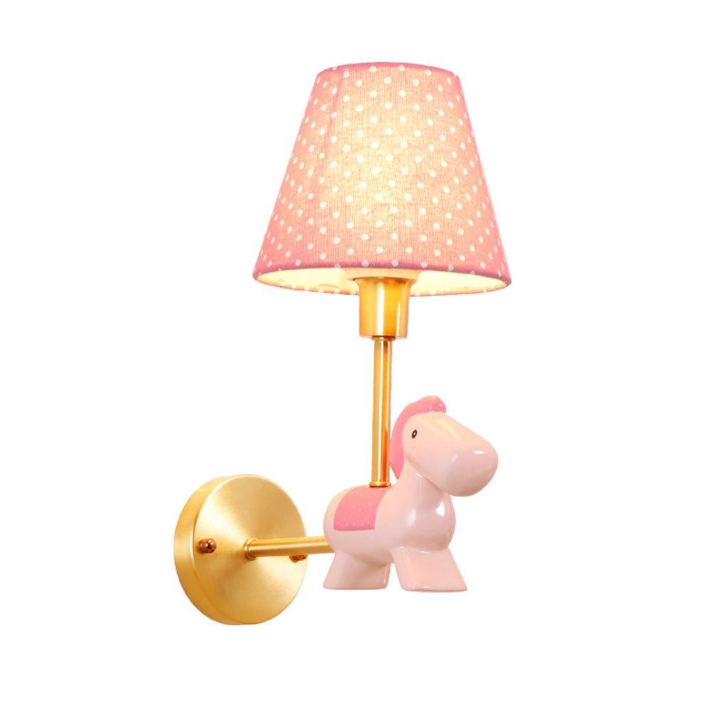 Unbekannt QIQIDEDIAN Kupfer Rosa Kinderzimmer Wandleuchte Cartoon Cute Girl Prinzessin Zimmer Lampe