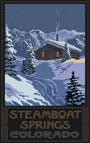 Northwest Art Mall Steamboat Springs Colorado Winter Mountain Cabin WMC Wall Art by Paul A. Lanquist, 11-Inch by - Mall Colorado Spring