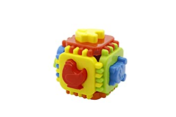 Momai Educational Nursery Cube for Kids. 6 Animal Moulds with Interlocking Cube