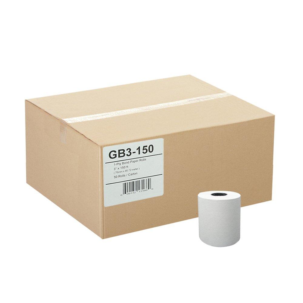 Gorilla Supply 3 X 150' 1-ply Bond Paper 50 Rolls TMU200 SRP275 by Gorilla Supply (Image #1)