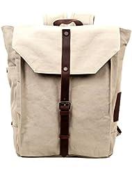 Travel Log Nova Backpack Canvas Genuine Leather 15.6 Laptop School Backpack and Travel Bag