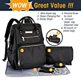 Image of SoHo Collections, Wide Opening Diaper Bag Backpack 5 pcs set(Classic Black) LIMITED TIME ONLY !!