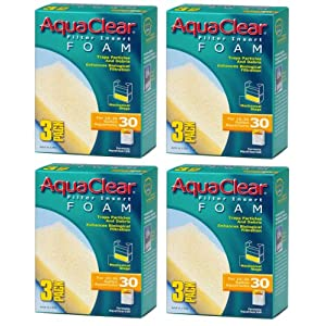 Aquaclear Foam Inserts, 3-Pack (12-Pack, 30-Gallon) 30