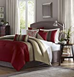 Madison Park Amherst 7 Piece Comforter Set - King - Red