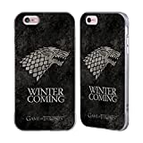 Official HBO Game Of Thrones Stark Dark Distressed Sigils Silver Fender Case for Apple iPhone 6 Plus/iPhone 6s Plus
