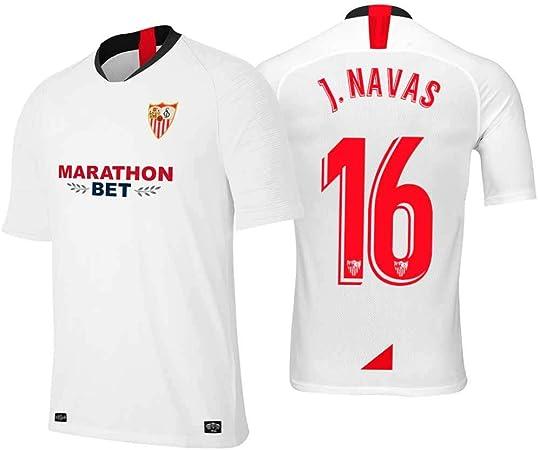 S&K Sports Camiseta Jesus Navas Sevilla Blanco,Camiseta Jesus Navas 2019/20 para Hombre & Niño(Blanco,18): Amazon.es: Deportes y aire libre