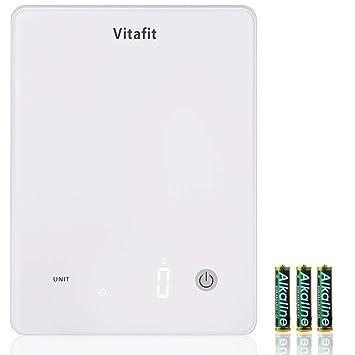 Vitafit 10 kg Báscula Digital para Cocina con Pecisión de 1 g ,Báscula de Cocina