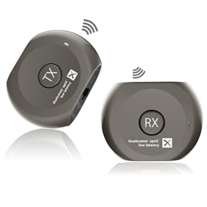 6557e7387c0caa Avantree aptX Low Latency Wireless Transmitter and Receiver Set, Bluetooth  Audio Adapter, Portable,