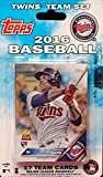 Minnesota Twins 2016 Topps Baseball Factory Sealed EXCLUSIVE Special Limited Edition 17 Card Complete Team Set with Joe Mauer, Miguel Sano & Many More Stars & Rookies! Shipped in Bubble Mailer!