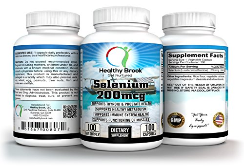 Selenium 200mcg 100 Capsules L-Selenomethionine Supports Weight Loss Supports Thyroid Prostate Heart Immunity Metabolism Muscles Health Strong Antioxidant