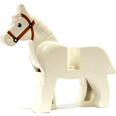 LEGO Animal Minifigure - WHITE HORSE: Toys & Games