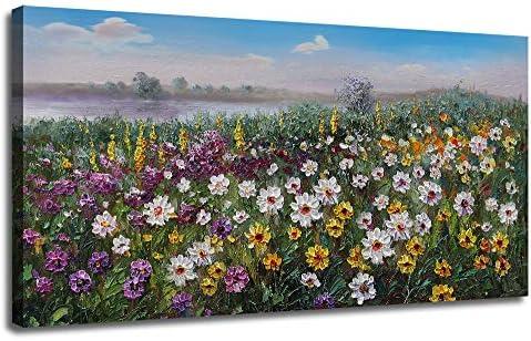 Flowers Landscape Painting Picture Bathroom