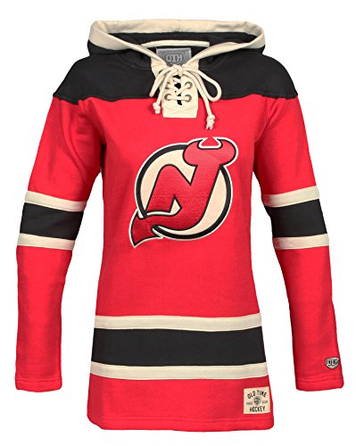 NHL New Jersey Devils Women's Lacer Heavyweight Hoodie, Small, Red