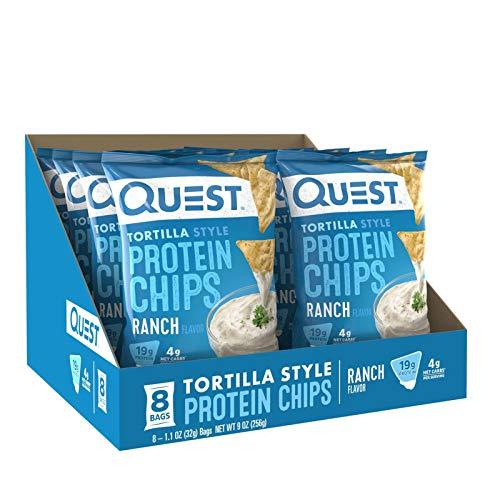 Quest Nutrition - Tortilla Protein Chips - Ranch - 8/Box - Low Carb - Low Calorie - Low Fat