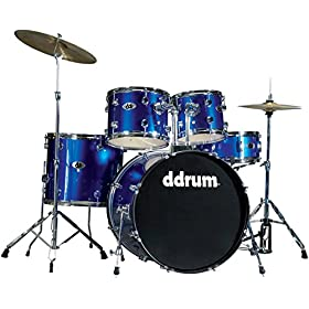 ddrum D2 PB D2 Drum Set 5 Piece, Police Blue 2