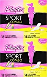 Playtex Sport Combo Pack, Regular and Super Tampons and Ultra Thin Pads with Wings, 32 Count (Pack of 2)