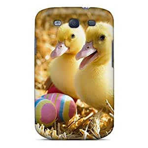 LJF phone case Galaxy Case - Tpu Case Protective For Galaxy S3- Two Cute Ducklings
