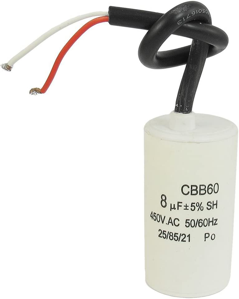 TOOGOO R CBB60 450VAC 8uF 5/% Wired Terminal Motor Start Capacitor