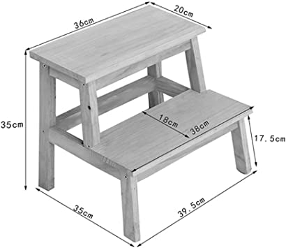 GOG Taburete, taburete de madera pequeño escalera de taburete de 2 peldaños para niños Cocina interior Taburetes pequeños de pie de madera Bastidor de flores portátil,Azul: Amazon.es: Bricolaje y herramientas
