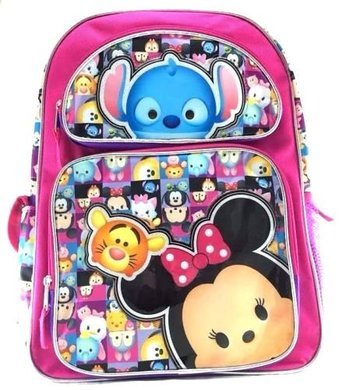 Disney Nuevo I Love Tsum Tsum 16 pulgadas Lienzo estilo mochila rosa 3: Amazon.es: Juguetes y juegos
